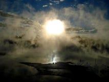 Actividad geotérmica, Rotorua, Nueva Zelandia Imagen de archivo
