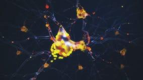 actividad neuronal 4K stock de ilustración