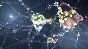 actividad neuronal 4K ilustración del vector