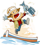 Actividad pesquera Imagen de archivo libre de regalías