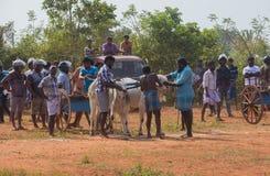 Actividad recreativa tradicional del deporte en Jaffna fotografía de archivo libre de regalías