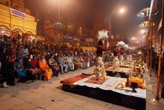 Actividad religiosa en la India Foto de archivo libre de regalías