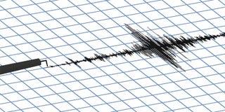 Actividad sísmica del terremoto Foto de archivo