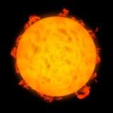 Actividad solar Imagen de archivo libre de regalías