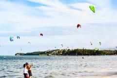 Actividad turística en la isla de Boracay Imagen de archivo libre de regalías