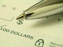 Actividades bancarias Imágenes de archivo libres de regalías