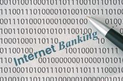 Actividades bancarias del Internet Imagen de archivo
