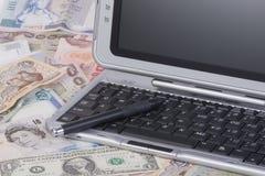 Actividades bancarias del Internet Imagen de archivo libre de regalías