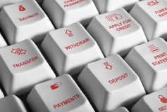 Actividades bancarias del Internet imágenes de archivo libres de regalías