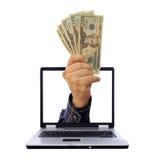 Actividades bancarias del Internet Fotografía de archivo libre de regalías