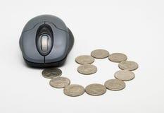 Actividades bancarias en línea Fotografía de archivo libre de regalías