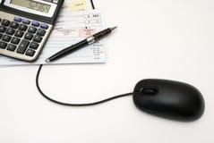 Actividades bancarias en línea Imagen de archivo