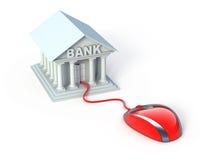 Actividades bancarias en línea Imágenes de archivo libres de regalías