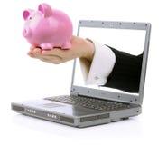 Actividades bancarias en línea Imagen de archivo libre de regalías