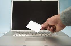 Actividades bancarias en línea Fotografía de archivo