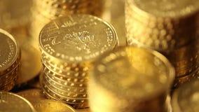 Actividades bancarias, negocio, finanzas y tema del dinero almacen de metraje de vídeo