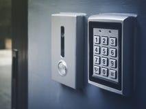 Actividades bancarias seguras de la caja de seguridad de la protección del número del cojín de la contraseña del código de cerrad fotografía de archivo