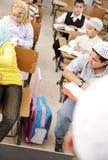 Actividades de educación en sala de clase imagen de archivo