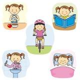 Actividades de la muchacha libre illustration