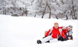 Actividades del invierno Fotografía de archivo