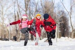Actividades del invierno Imágenes de archivo libres de regalías