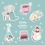 Actividades del invierno libre illustration