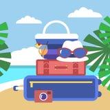 Actividades del verano Imágenes de archivo libres de regalías