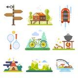 Actividades en el bosque libre illustration
