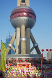 Actividades que suben del día de Año Nuevo en Shangai Fotos de archivo libres de regalías