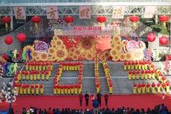 Actividades que suben del día de Año Nuevo en Shangai Foto de archivo libre de regalías
