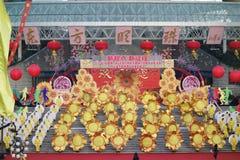 Actividades que suben del día de Año Nuevo en Shangai Imagen de archivo libre de regalías
