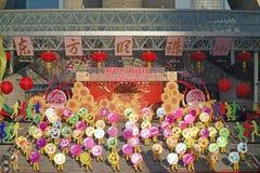 Actividades que suben del día de Año Nuevo en Shangai Foto de archivo