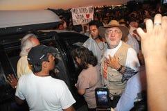 Activist Javier Sicilia looking at camera Royalty Free Stock Image