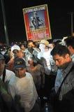 Activist Javier Sicilia walks among crowd Royalty Free Stock Photos
