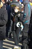 Activista Anastasia Rybachenko de la sociedad civil Imagen de archivo libre de regalías