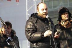 Activista civil Peter Shkumatov Foto de archivo