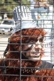 Activista del derecho de los animales en la protesta del UCLA Imagen de archivo