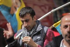 Activista del primero de mayo de Londres Fotografía de archivo