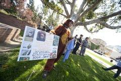 Activistas del derecho de los animales del UCLA Foto de archivo