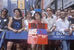 Activistas que participam na reunião do AIDS, imagens de stock royalty free