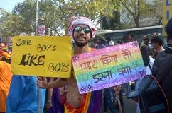 Activistas y partidarios de LGBT Fotografía de archivo