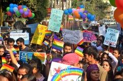 Activistas y partidarios de LGBT Fotos de archivo libres de regalías