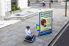 Activiste de Londres protestant sur l'endroit de Portland Photo libre de droits
