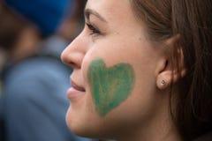 Activiste environnemental Image libre de droits