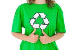 Activiste environnemental renonçant à des pouces photo libre de droits