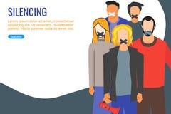Activisten door de Overheid voor het Aantonen tot zwijgen worden gebracht die royalty-vrije illustratie