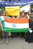 Activisten van India tegen corruptie het protesteren Stock Fotografie