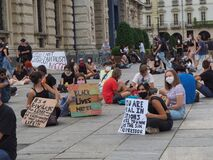 Activists demonstration for human rights after George Floyd murderer
