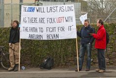 Activists from Exeter demonstrated outside RD&E Stock Images