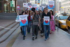 Activists in front of the consulate of Japan in Los Angeles to protest the dolphins slaughter in Taiji Royalty Free Stock Image